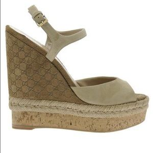 Gucci Espadrilles with Wedge in Striped Fabric